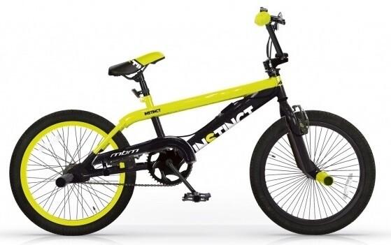 BMX Fahrrad / Velo MBM Instinct 20 Zoll 49 cm Jungen V-Brake Gelb