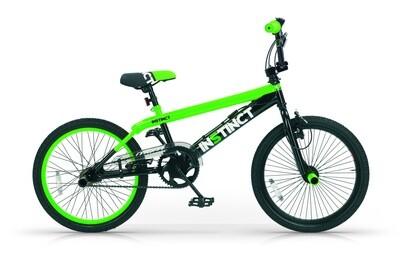 BMX Fahrrad / Velo MBM Instinct 20 Zoll 49 cm Jungen V-Brake Schwarz/Grün