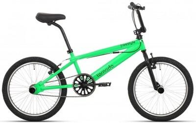 BMX Fahrrad / Velo Tornado Freestyle 20 Zoll 21,5 cm Unisex V-Brake Grün