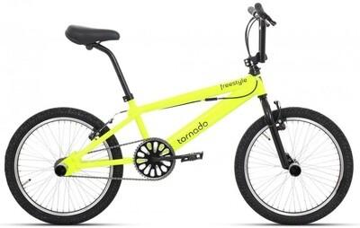 BMX Fahrrad / Velo Tornado Freestyle 20 Zoll 21,5 cm Unisex V-Brake gelb