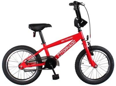 BMX Fahrrad / Velo Bike Fun Cross Tornado 16 Zoll Junior Rücktrittbremse rot