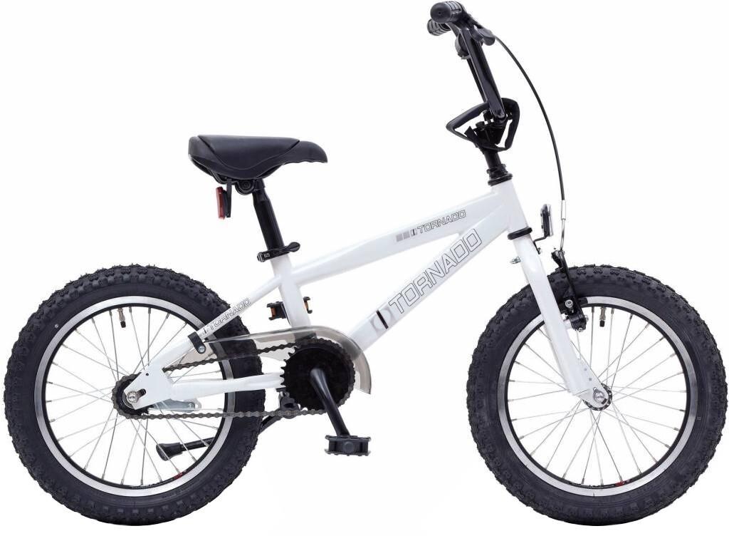 BMX Fahrrad / Velo Bike Fun Cross Tornado 16 Zoll Junior Rücktrittbremse weiss