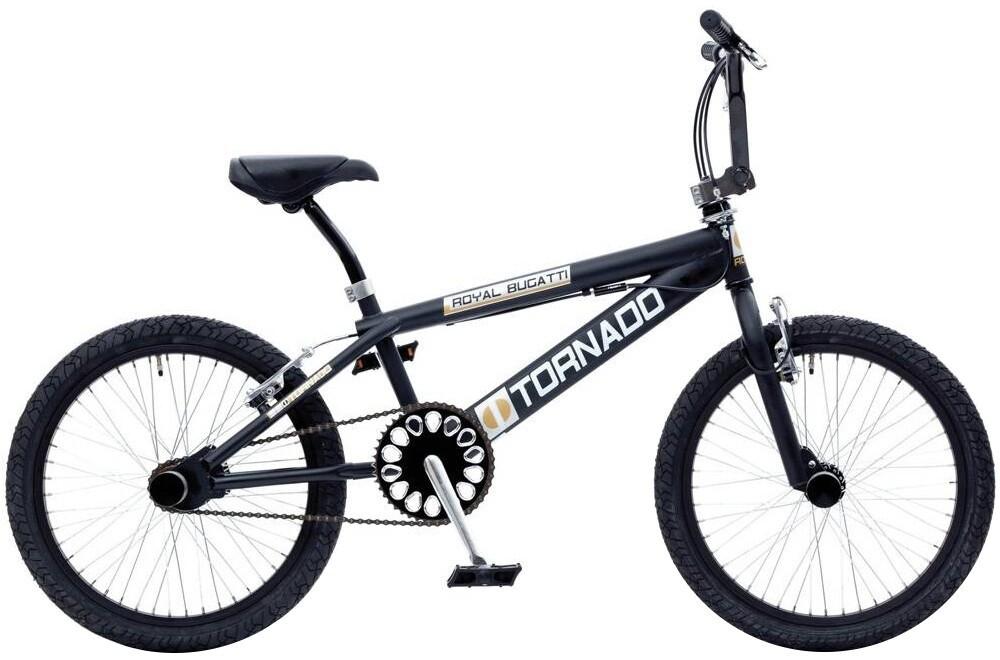 BMX Fahrrad / Velo Bike Fun Tornado 20 Zoll 31 cm Unisex Felgenbremse Mattschwarz