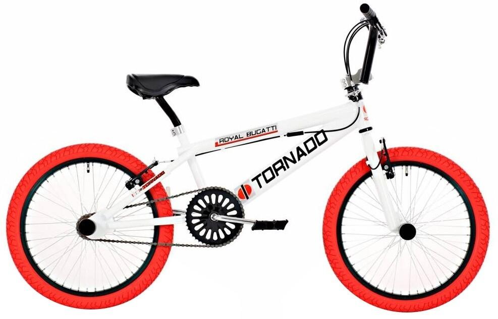 BMX Fahrrad / Velo Bike Fun Tornado 20 Zoll 31 cm Unisex V-Brake weiss/rot