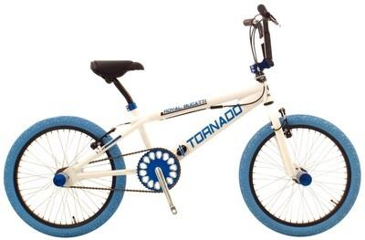 BMX Fahrrad / Velo Bike Fun Tornado 20 Zoll 31 cm Unisex V-Brake weiss-blau