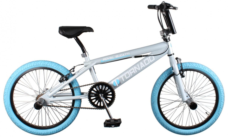 BMX Fahrrad / Velo Bike Fun Tornado 20 Zoll 31 cm Unisex V-Brake grau/blau