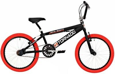 BMX Fahrrad / Velo Bike Fun Tornado 20 Zoll 31 cm Unisex V-Brake schwarz-rot
