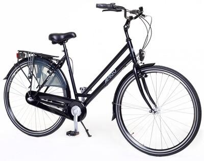 Damen City Fahrrad / Velo AMIGO Bright 28 Zoll 53 cm 3G Rücktrittbremse Mattschwarz