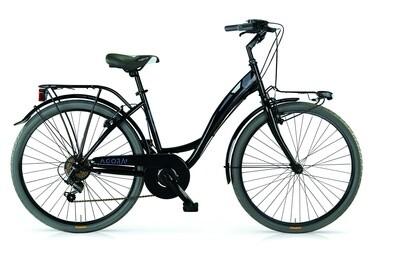 Damen City Fahrrad / Velo MBM Agora 26 Zoll 43 cm 6G Felgenbremse Schwarz