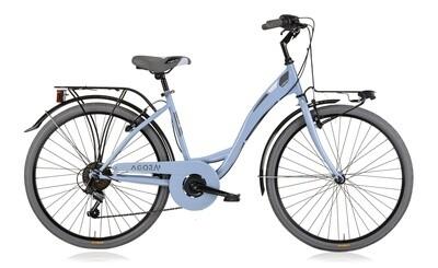 Damen City Fahrrad / Velo MBM Agora 26 Zoll 43 cm 6G Felgenbremse Hellblau