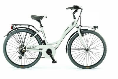 Damen City Fahrrad / Velo MBM Agora 26 Zoll 43 cm 6G Felgenbremse elfenbeinweiss