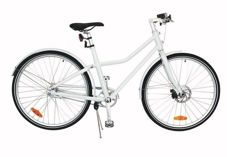 City Fahrrad / Velo TOM City Bike Deluxe 28 Zoll Unisex 2G Scheibenbremse Weiss