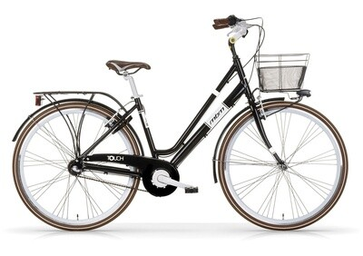 Damen City Fahrrad / Velo MBM Touch 28 Zoll 3G Felgenbremse Schwarz