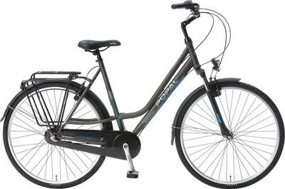 Damen City Fahrrad / Velo Popal CityFlex 28 Zoll 3G Felgenbremse grau