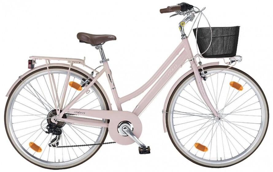 Damen City Fahrrad / Velo MBM Boulevard 28 Zoll Frau 6G Felgenbremse Rosa