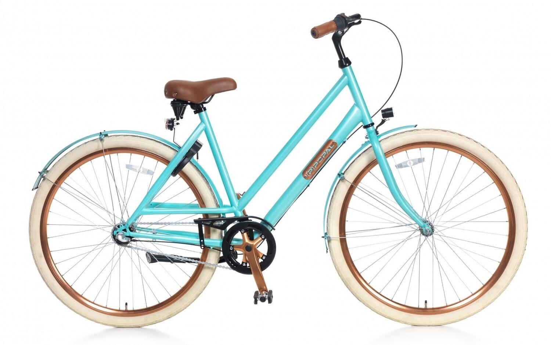 Damen City Fahrrad / Velo Popal Montebella N3 28 Zoll Frau 3G Rücktrittbremse Hellblau