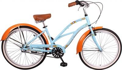 Damen-Fahrrad / Velo Leader Sandy 26 Zoll 3G Rücktrittbremse Hellblau