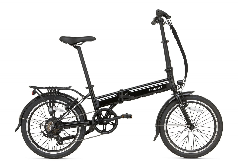 Damen und Herren E-Bike / Velo Faltrad Popal E-Folt 2.0 20 Zoll 20 cm Unisex 6G Felgenbremse Schwarz