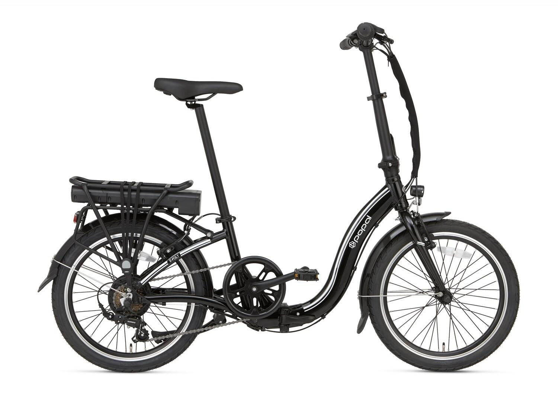 Damen und Herren E-Bike / Velo Faltrad Popal E-Folt 1.0 20 Zoll 20 cm Unisex 6G Felgenbremse Schwarz