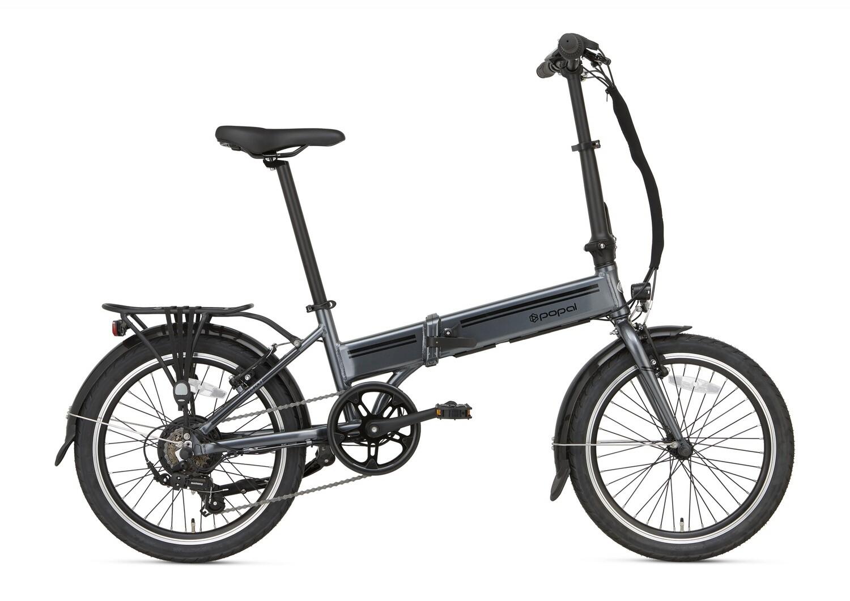 Damen und Herren E-Bike / Velo Faltrad Popal E-Folt 2.0 20 Zoll 20 cm Unisex 6G Felgenbremse grau