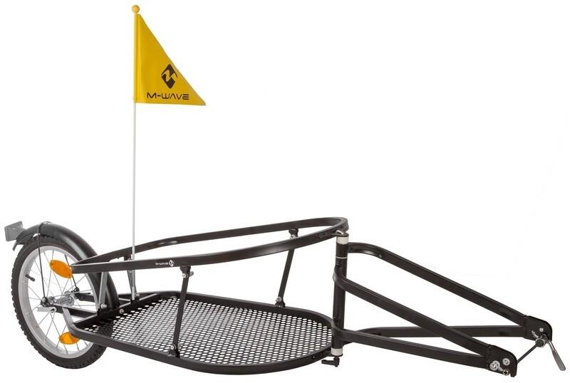 Velo-Anhänger / Fahrradanhänger M-Wave 16 Zoll Unisex Schwarz