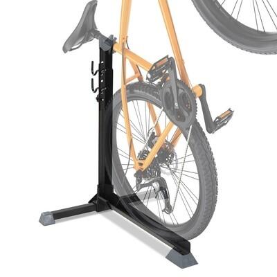 HOMCOM® Fahrradständer Velo-Ständer Universal Fahrradhalter mit 2 Haken höhenverstellbar Schwarz