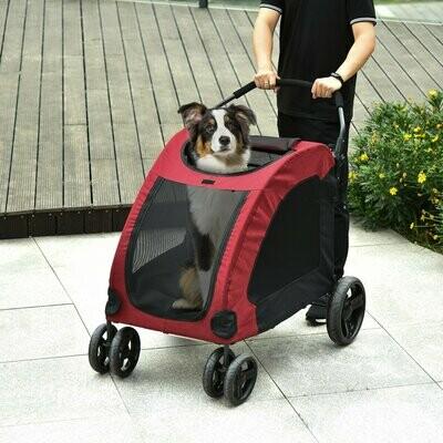 PawHut® Hundebuggy Hundewagen Hundeanhänger Hundetasche klappbar Grau+Schwarz