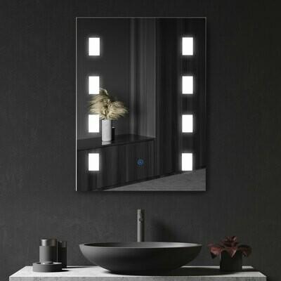 kleankin® Lichtspiegel Badspiegel LED Spiegel Badezimmerspiegel Wandspiegel Anti-Beschlag