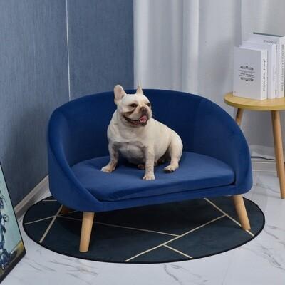 PawHut® Hundesofa mit Weichem Bezug Haustiersofa mit Holzbeinen Hundebett Katzensofa