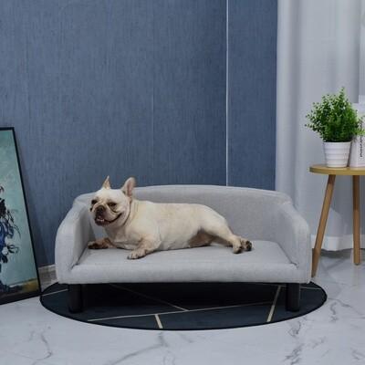 PawHut® Hundesofa mit Weichem Bezug Haustiersofa Hundebett Katzensofa mit Holzbeinen