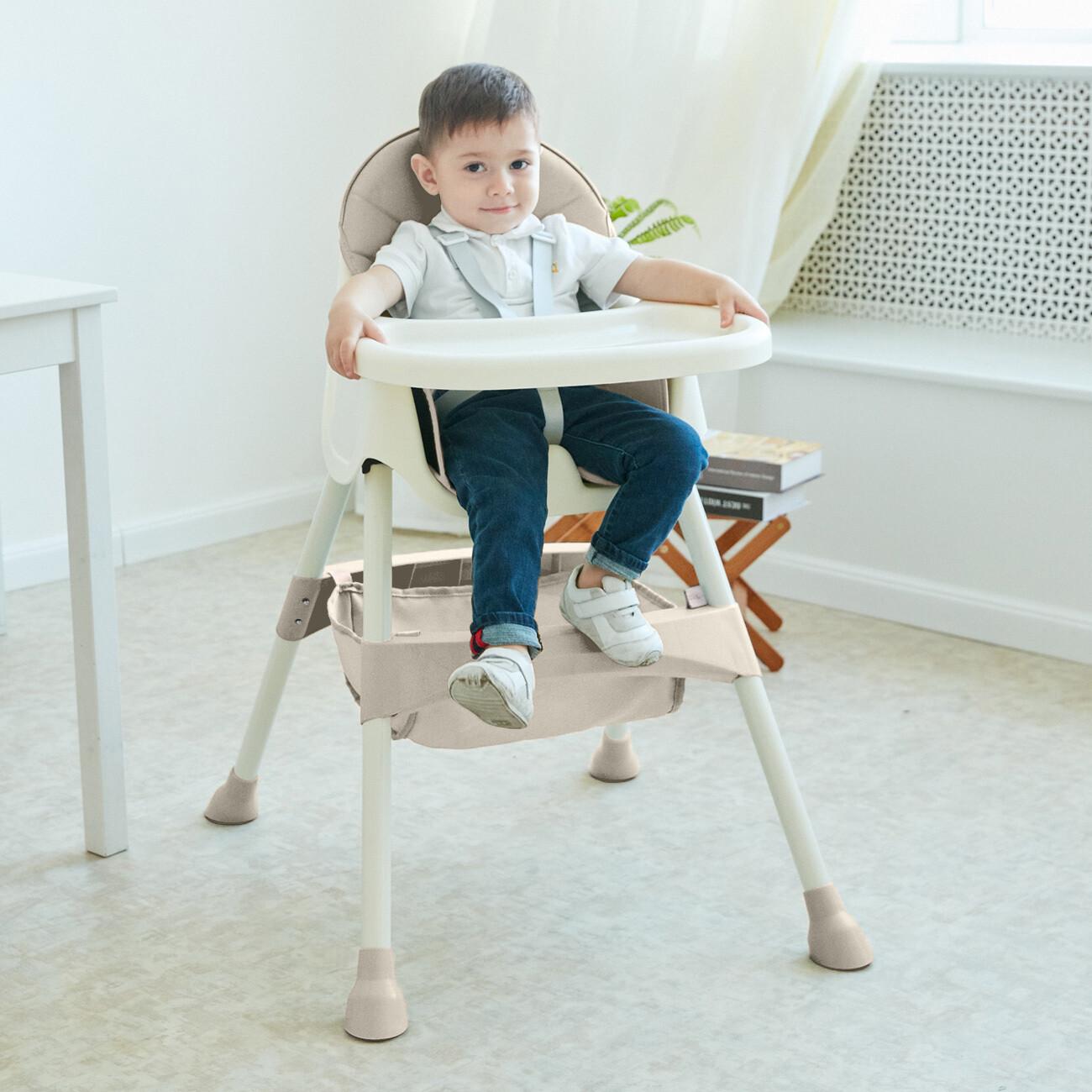 Baby Vivo Design 2in1 Kinderhochstuhl - Oscar in Beige