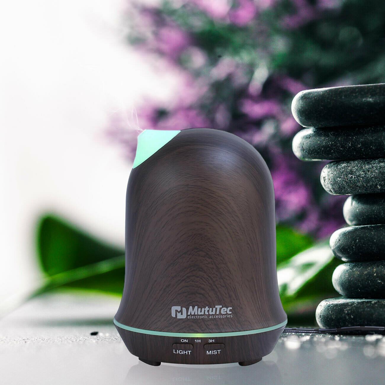 MutuTec Luftbefeuchter / Aroma Diffuser mit verstellbarer Düse - 200 ml