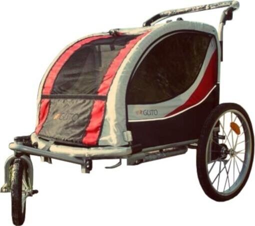 Velo-Anhänger Guto Deluxe 16 Zoll Junior Schwarz/Rot