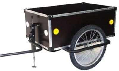 Velo-Anhänger / Fahrradanhänger Roland Jumbo 175L 20 Zoll Unisex Schwarz bis 200kg Nutzlast