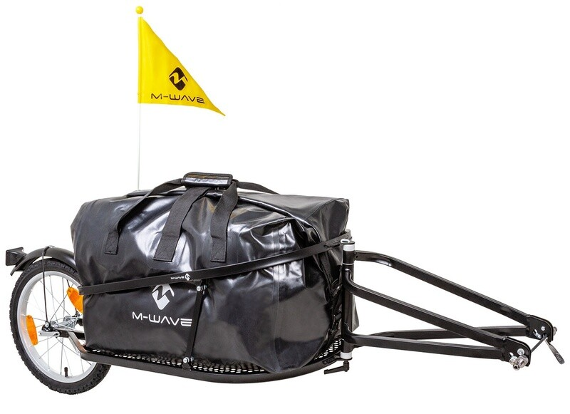 Velo-Anhänger / Fahrradanhänger M-Wave Single 40 16 Zoll Unisex Schwarz Klappbar