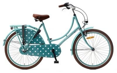 Mädchen Hollandrad Fahrrad Velo Popal 24 Zoll Mädchen 3G Rücktrittbremse Türkis
