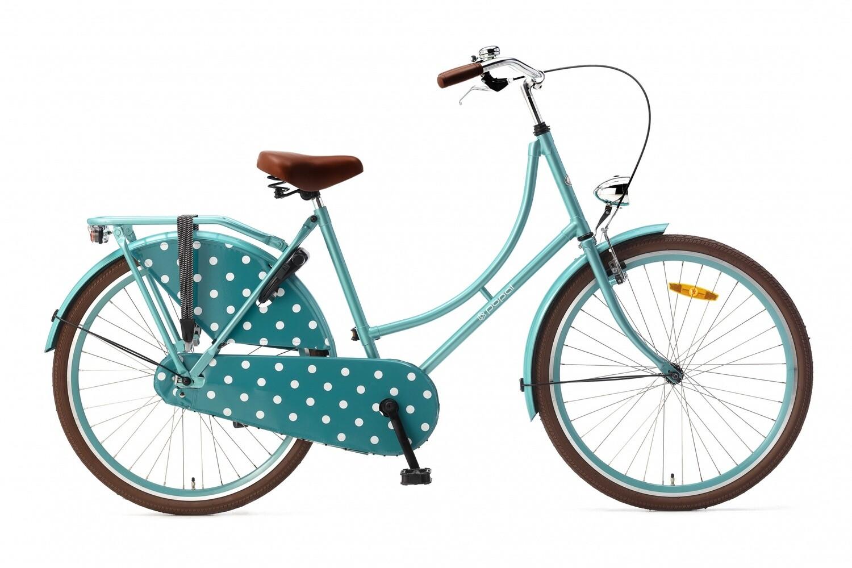 Damen Hollandrad Fahrrad Velo Popal Omafiets 26 Zoll Mädchen Rücktrittbremse Aqua