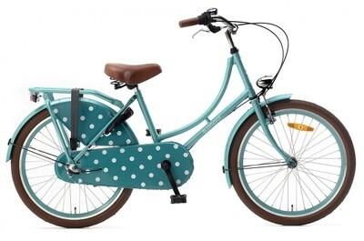 Mädchen Hollandrad Fahrrad Velo Popal 22 Zoll Mädchen 3G Rücktrittbremse Türkis