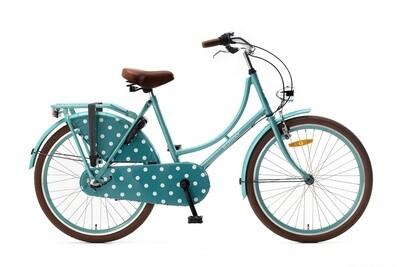 Damen Hollandrad Fahrrad Velo Popal 26 Zoll Mädchen 3G Rücktrittbremse Türkis