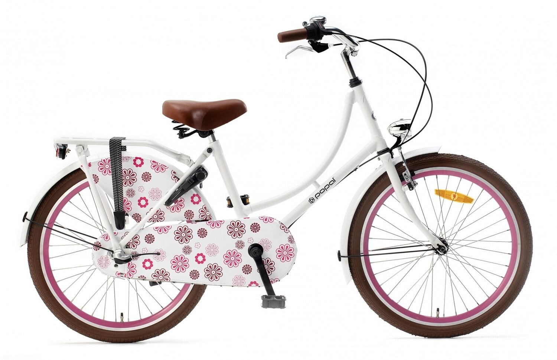 Hollandrad Fahrrad Velo Popal 22 Zoll Mädchen 3G Rücktrittbremse Weiss