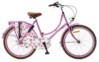 Damen Hollandrad Fahrrad Velo Popal 24 Zoll Mädchen 3G Rücktrittbremse Rosa