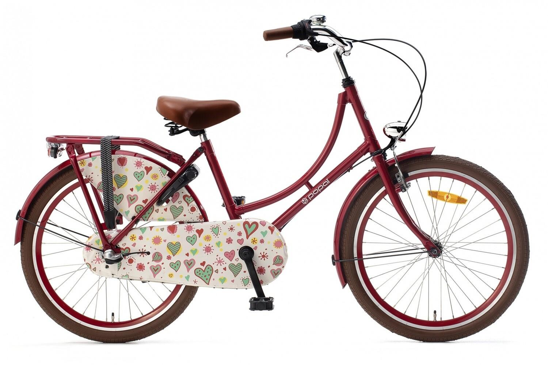 Hollandrad Fahrrad Velo Popal 22 Zoll Mädchen 3G Rücktrittbremse Rot