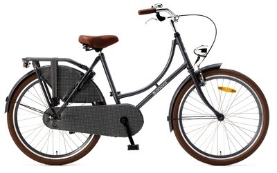 Hollandrad Fahrrad Velo Popal 24 Zoll Mädchen 3G Rücktrittbremse grau