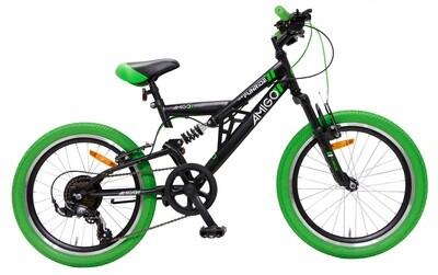 Fahrrad Velo Mountainbike AMIGO Fun Ride 20 Zoll 33 cm Junior 7G Felgenbremse Schwarz/Grün