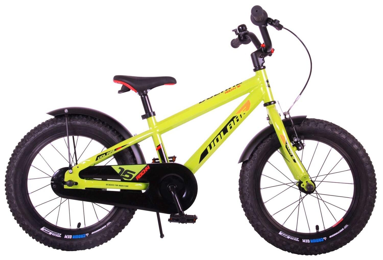 Kinder-Fahrrad Velo Volare Rocky 16 Zoll 25,4 cm Jungen Rücktrittbremse Grün/Schwarz