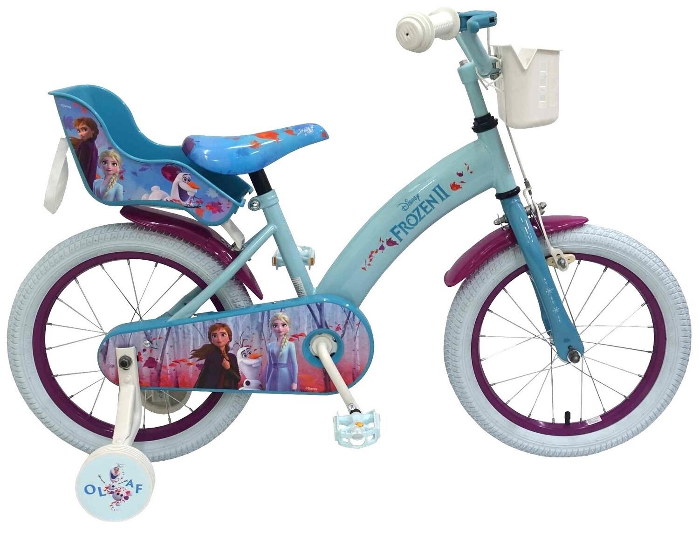 Kinder-Fahrrad Velo Kubbinga Disney Frozen / Die Eiskönigin 2 16 Zoll 25,4 cm Mädchen Rücktrittbremse Blau
