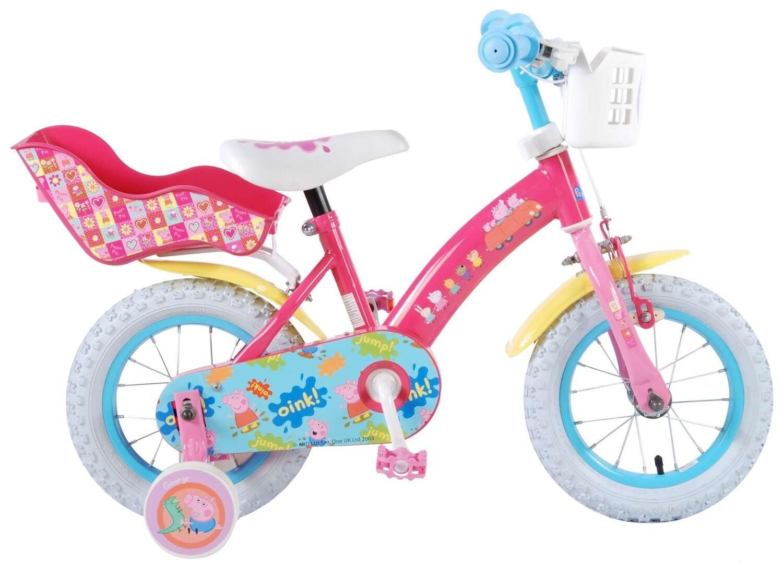 Kinder-Fahrrad Velo Peppa Pig 12 Zoll 21,5 cm Mädchen Rücktrittbremse Rosa