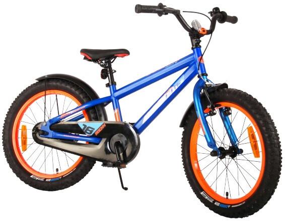 Kinder-Fahrrad Velo Volare Rocky 18 Zoll 28 cm Jungen Felgenbremse Blau/Orange