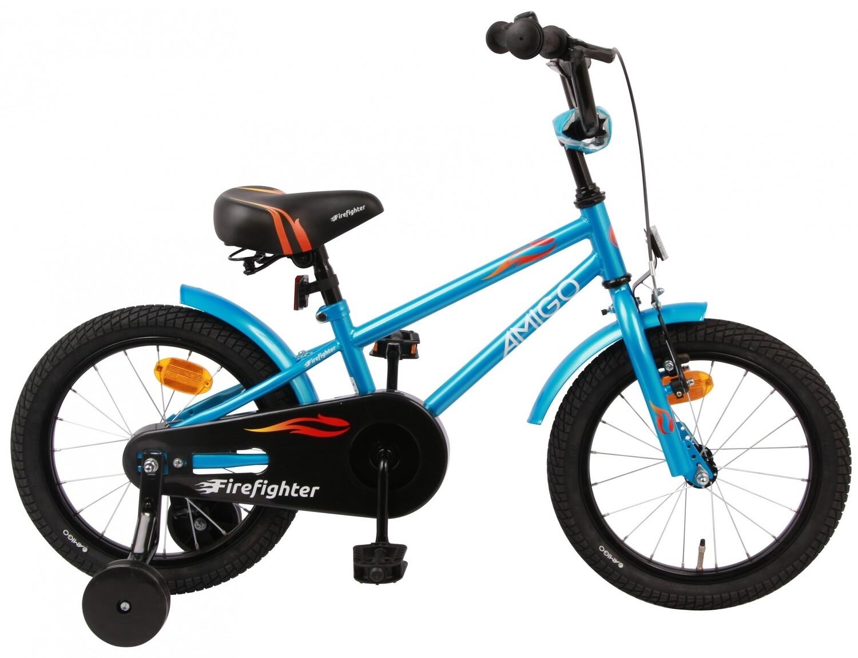 Kinder-Fahrrad Velo AMIGO Firefighter 16 Zoll 20 cm Jungen Rücktrittbremse Blau