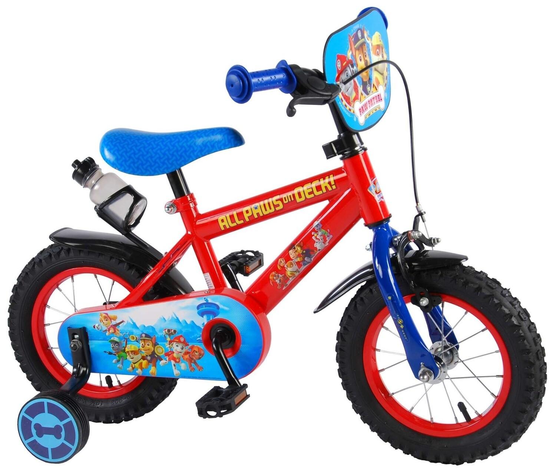 Kinder-Fahrrad Velo Volare Paw Patrol 12 Zoll 21,5 cm Jungen Rücktrittbremse Rot
